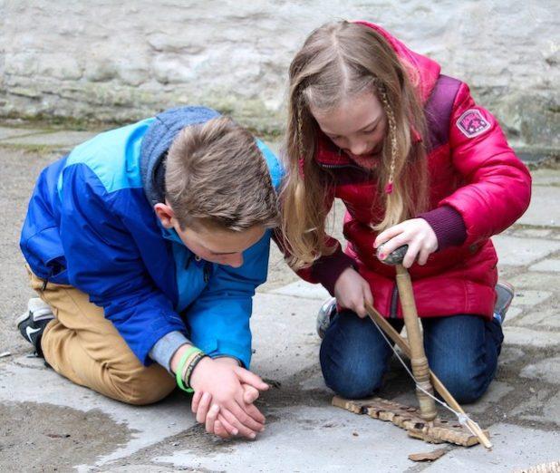 Feuer machen im Museum Wasserschloss Werdringen