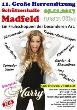 Herrensitzung in Madfeld - Kartenvorverkauf hat begonnen