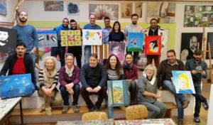 Iserlohn – Kunstwerke bei der Weihnachtsausstellung der Kunstfabrik casa b