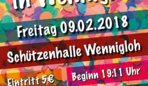 Am 09. Februar legt der Wennigloher Karneval los