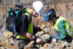 Fossilien- und Mineraliensuche im Hohenlimburger Steinbruch in Hagen