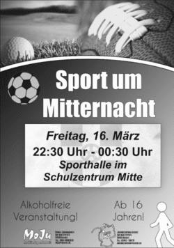 Geseke - Sport um Mitternacht am 16. März 2018