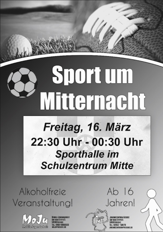 Photo of Geseke – Sport um Mitternacht am 16. März 2018
