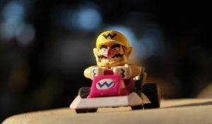 Mario Kart auf Großleinwand in der Stadtbibliothek Brilon