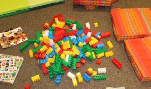 LEGO®Tag in der Kinderbuchabteilung der Dorte-Hilleke-Bücherei