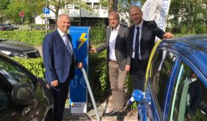 In der Stadt Drolshagen steht die erste E-Ladesäule
