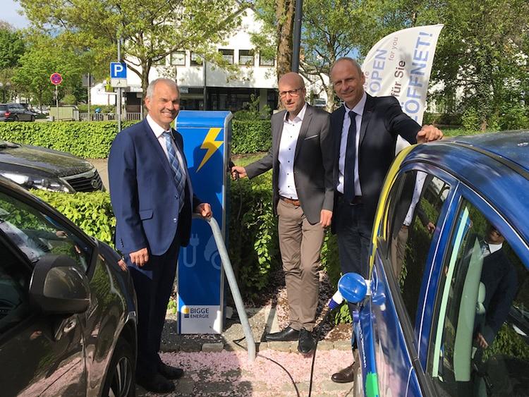 Photo of In der Stadt Drolshagen steht die erste E-Ladesäule