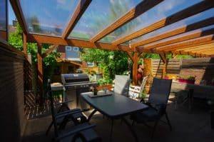 Photo of Terrassenüberdachung mit Steg- und Hohlkammerplatten