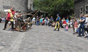 Mittelalterliche Burgwache auf der Burg Altena