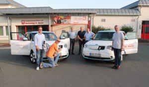 Caritas jetzt auch mit E-Autos unterwegs