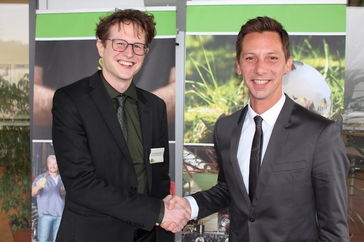 Landrat Andreas Müller (rechts) und der Klimaschutzmanager Dr. Dominik Düber