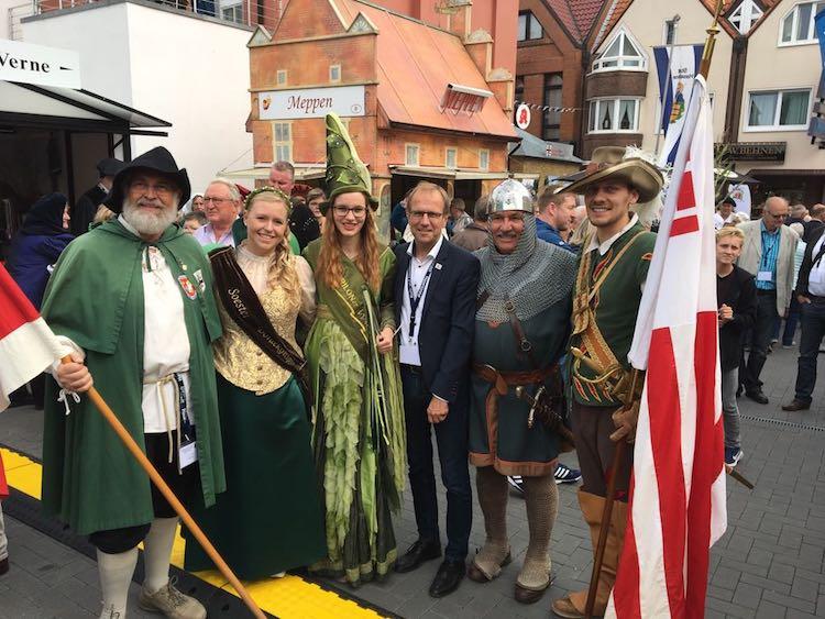 Photo of Briloner Delegation beim Hansetag in Haselünne