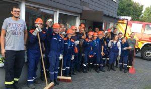 Jugendfeuerwehr im Einsatz in Iseringhausen