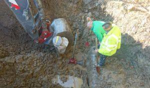 Reparaturarbeiten an Hauptleitung in Kredenbach abgeschlossen