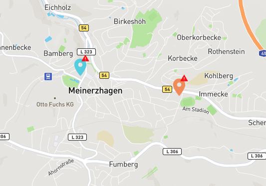 Screenshot Goingelectric.de - Es gibt aktuell zwei Ladesäulen - eine bei Mark-E und eine bei ATU. Beide sind aktuell defekt. Ladesäulenanbieter überfordert?