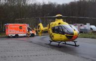 Mit Hubschrauber in Spezialklinik geflogen