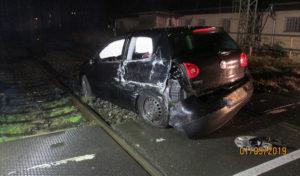 Verkehrsunfall – Zug kollidiert mit PKW