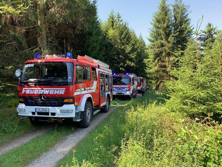 Photo of Schnell ausbreitenden Waldbrand in Lennestadt