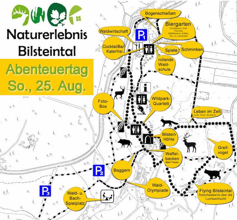 Photo of Abenteuertag im Bilsteintal in Warstein am So., den 25. August