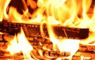 Gartenpavillon brannte