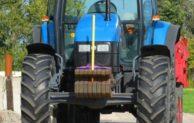 Polizei begleitete Traktor-Konvoi