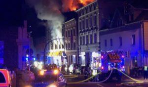 Brand eines Hauses