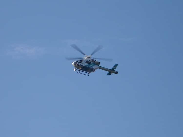 2019-12-19-Hubschrauber-Verkehrsunfall-Hubschrauber-Rettungshubschrauber-Rettungshubschrauber
