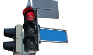 Rotlicht missachtet – Verkehrsunfall