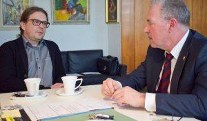 Bürgermeister trifft Caritasverband