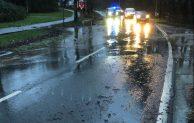 Sauerlandstraße unter Wasser