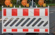 Straßensperrungen für Kreisverkehr