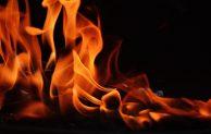 Feuer in Unterkunft