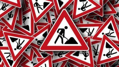 Photo of Tagesbaustelle – Baustellenampel regelt den Verkehr