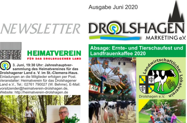 Drolshagen Newsletter Juni 2016 - Drolshagen Marketing e.V.