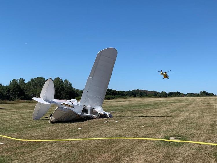 Photo of Pilot stirbt und Passagier lebensgefährlich verletzt nach Absturz