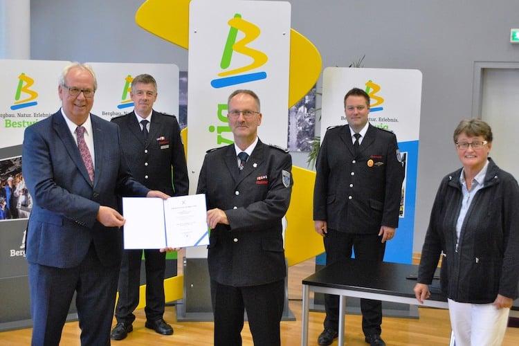 Photo of Andreas Schulte zum Leiter der Freiwilligen Feuerwehr ernannt